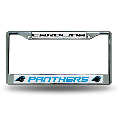 Carolina Panthers Chrome License Plate Cover