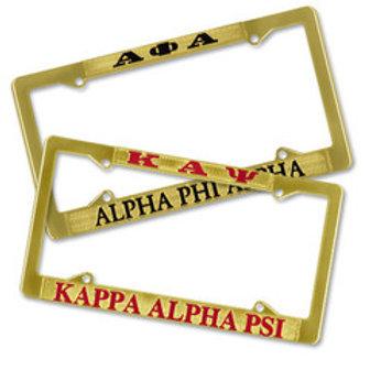 Alpha Phi Alpha Brass License Plate Frame