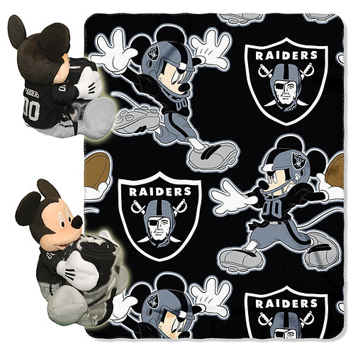 Oakland Raiders Mickey Mouse Throw Combo