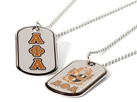 Alpha Phi Alpha Reversible Silver Dog Tag