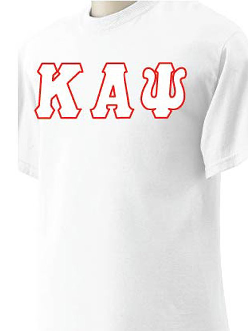 White Kappa Short Sleeve Tee