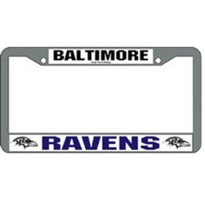 Baltimore Ravens NFL Chrome License Plate Frame