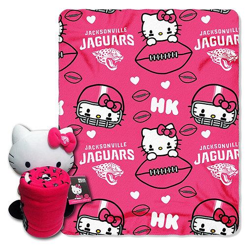 Jacksonville Jaguars Hello Kitty Throw Combo