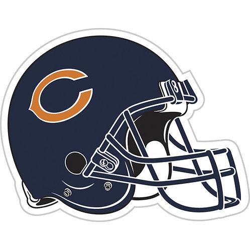 """Chicago Bears 12"""" vinyl helmet magnet"""
