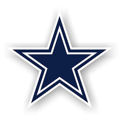 """Dallas Cowboys 12"""" vinyl logo magnet"""