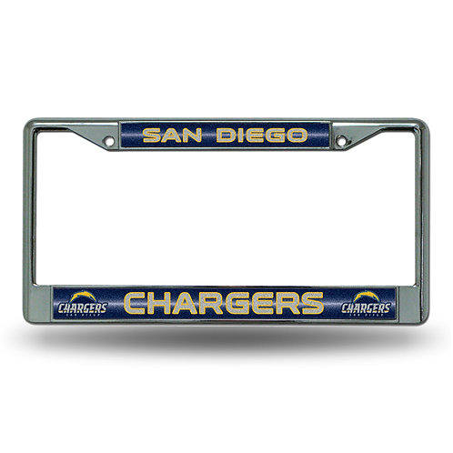 Chargers Laser Cut Chrome License Plate Frame