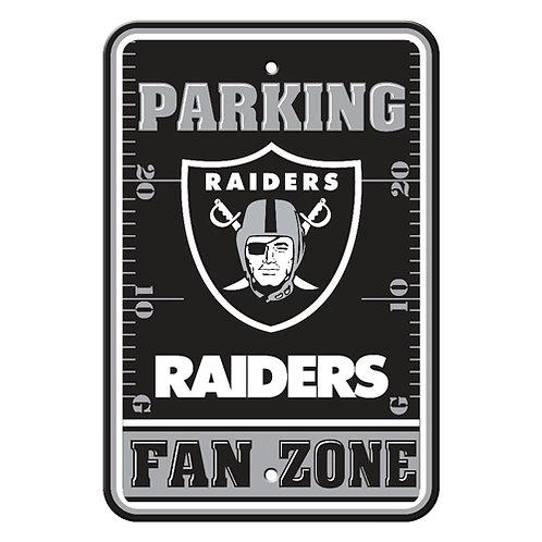 Oakland Raiders NFL Plastic Parking Sign