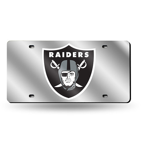 Oakland Raiders Laser Cut License Plate Tag