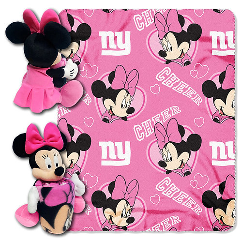 New York Giants Minnie Mouse Throw Combo