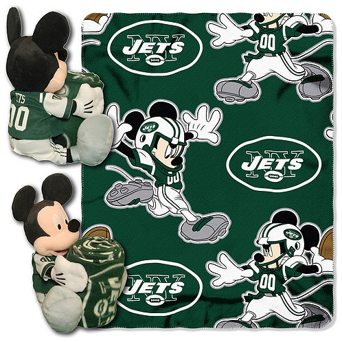 New York Jets Mickey Mouse Throw Combo