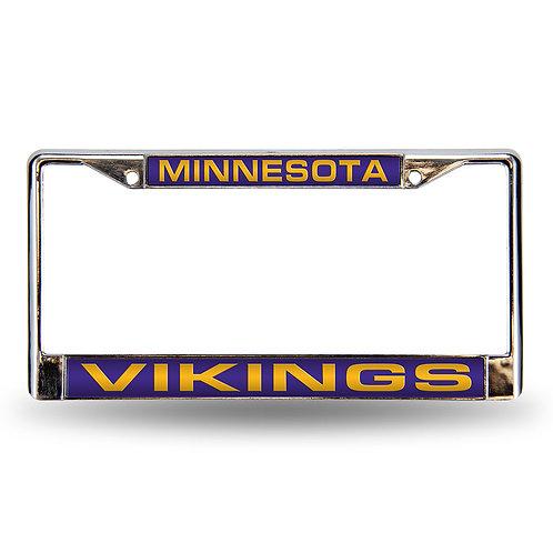 Minnesota Vikings Laser Cut Chrome License Frame