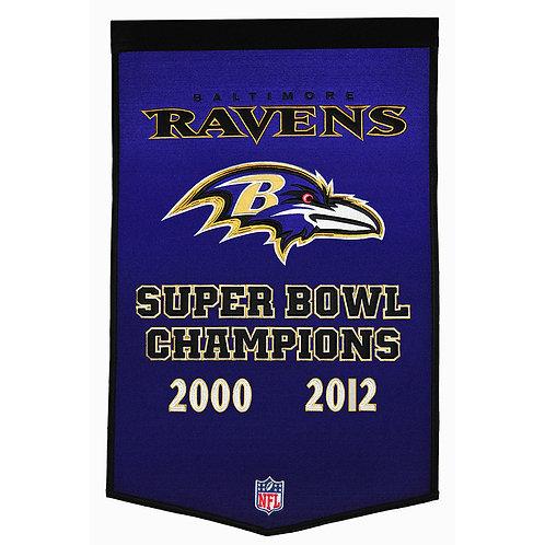 Baltimore Ravens NFL Dynasty Banner (24x36)