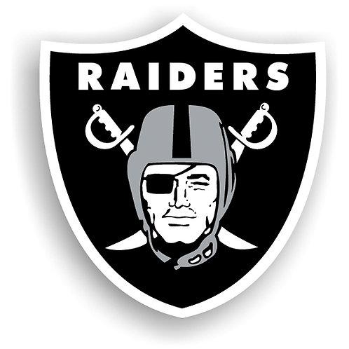 "Oakland Raiders 12"" vinyl logo magnet"