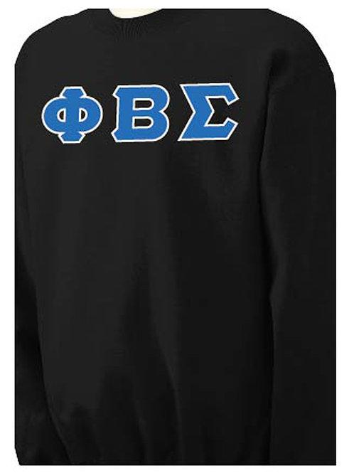 Black PBS Crewneck Fleece Crewneck Sweatshirt