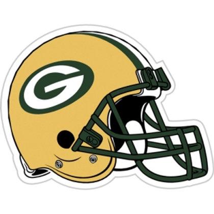 "Green Bay Packers 12"" vinyl helmet magnet"