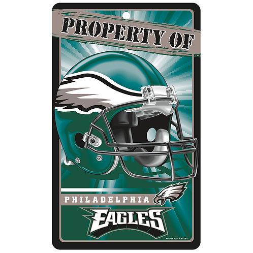 Philadelphia Eagles Property Of Signs (7.25x12)