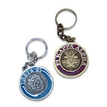 Phi Beta Sigma Cast Metal Crested Keychain