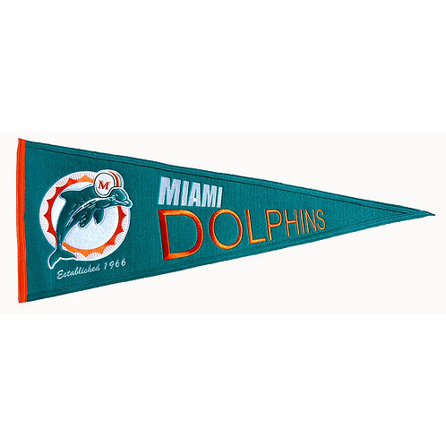 Miami Dolphins Throwback Pennant (13x32)