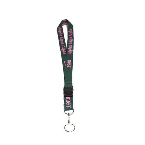 Alpha Kappa Alpha Woven Embroidered Lanyard