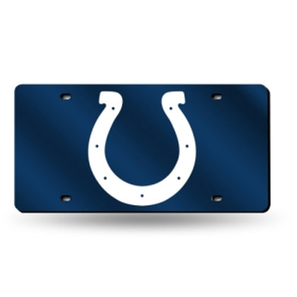Colts Blue Laser Cut License Plate Tag