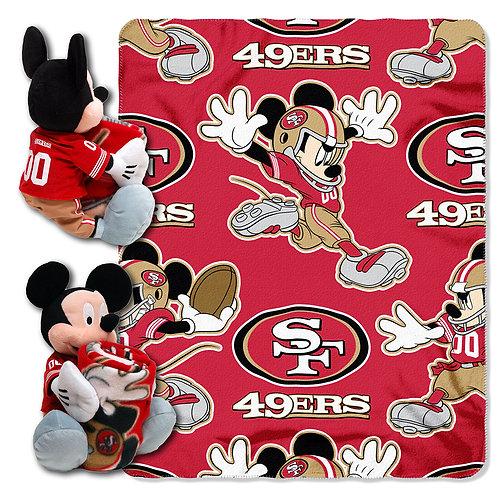 San Francisco 49ers Mickey Mouse Throw Combo