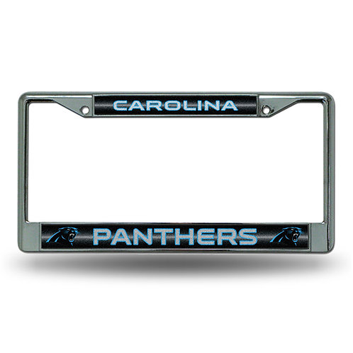 Panthers Bling Glitter License Plate Frame