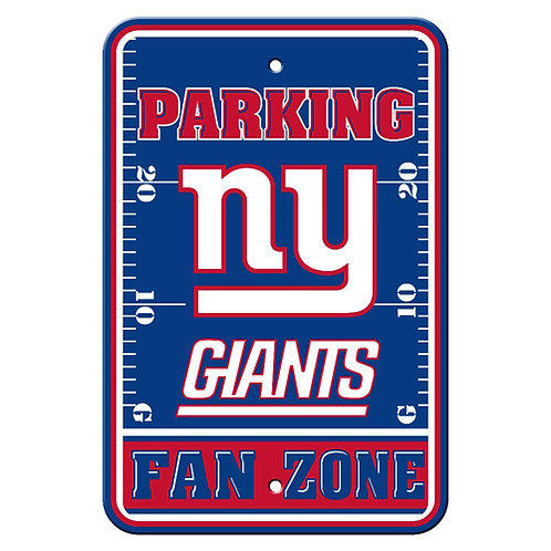 New York Giants NFL Plastic Parking Sign