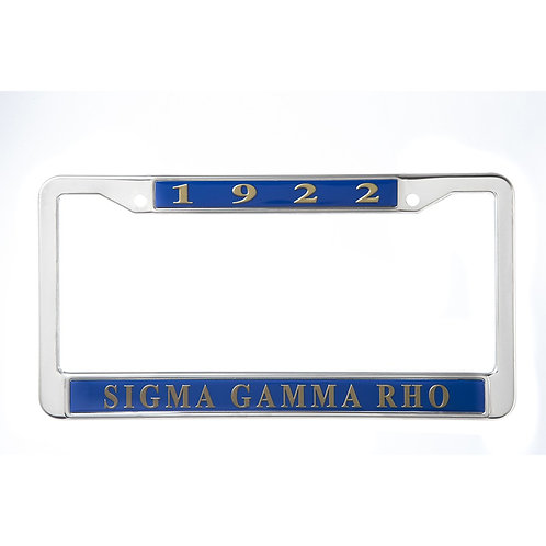 Sigma Gamma Rho Metal License Plate Frame