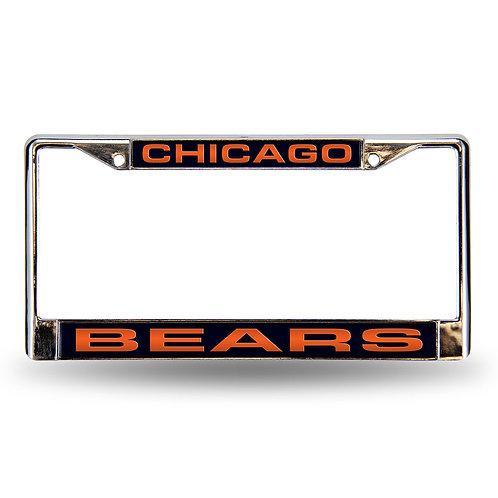 Bears Laser Cut Chrome License Plate Frame