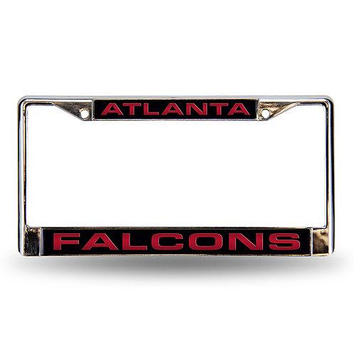 Falcons Laser Cut Chrome License Plate Frame