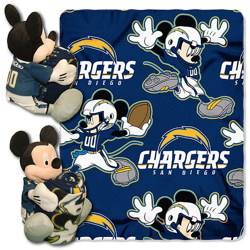 San Diego Chargers Mickey Mouse Throw Combo