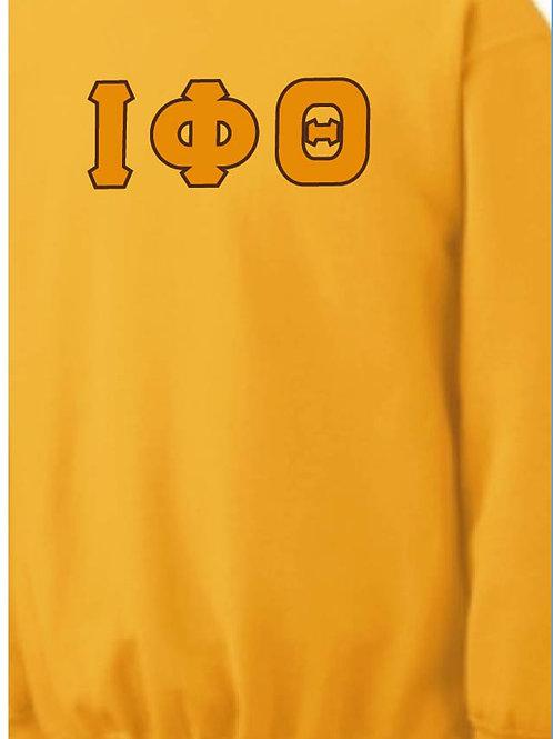 Iota Phi Theta Gold Fleece Crewneck Sweatshirt