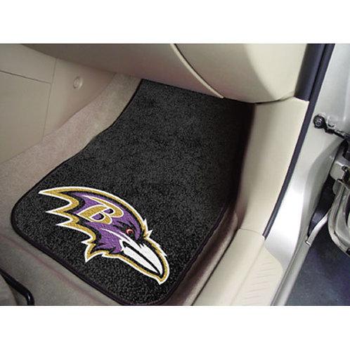 Baltimore Ravens NFL Car Floor Mats (2 Front)