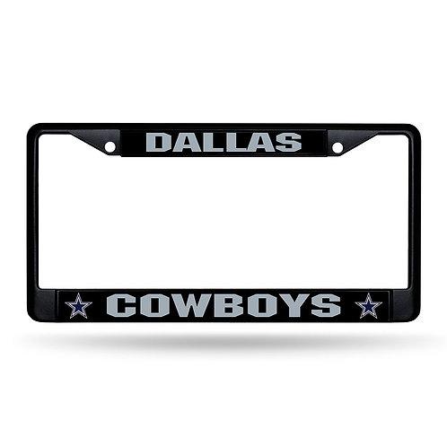 Dallas Cowboys Laser Cut Black License Plate Frame