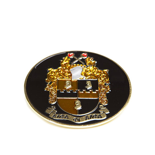 Alpha Phi Alpha Round Car Badge