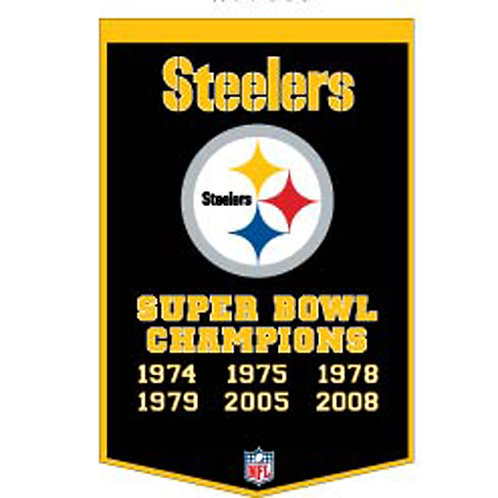 """Pittsburgh Steelers NFL """"Dynasty"""" Banner"""