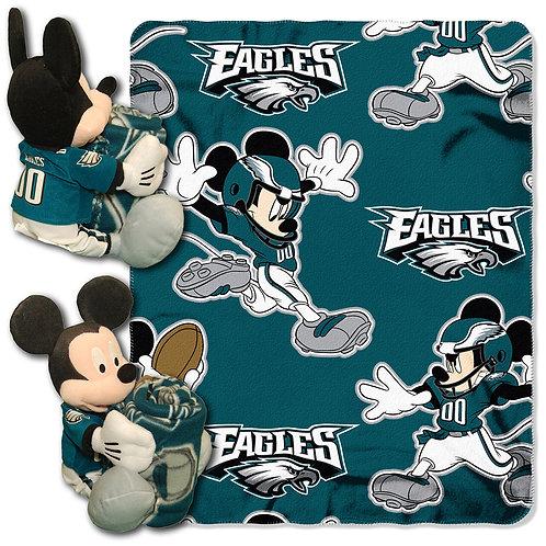 Philadelphia Eagles Mickey Mouse Throw Combo
