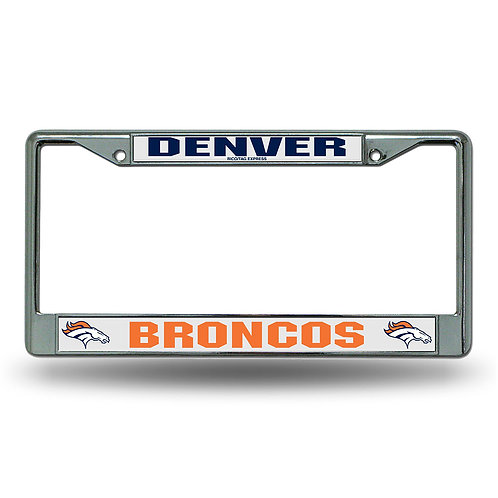 Denver Broncos Chrome License Plate Cover