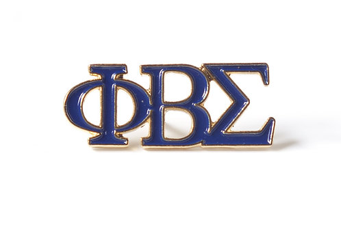 Phi Beta Sigma 3 Letter Color Pin