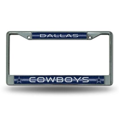 Cowboys Bling Glitter License Plate Frame