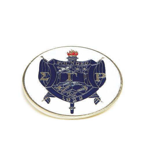 Sigma Gamma Rho Round Car Badge
