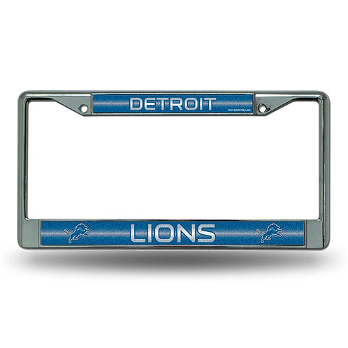 Detroit Lions Bling Glitter License Plate Frame