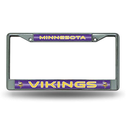 Minnesota Vikings Bling Glitter License Frame