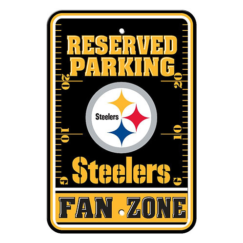 Pittsburgh Steelers Plastic Parking Sign