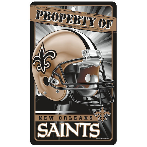 New Orleans Saints Property Of Signs (7.25x12)