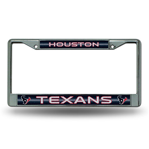Houston Texans Bling Glitter License Plate Frame