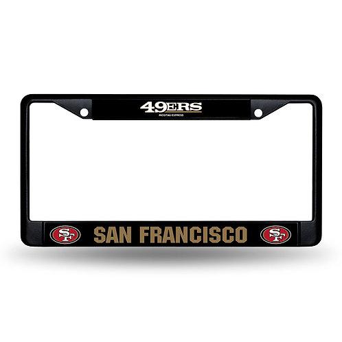 49ers Laser Cut Black License Plate Frame