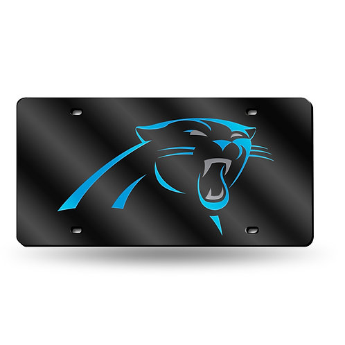 Panthers Black Laser Cut License Plate Tag
