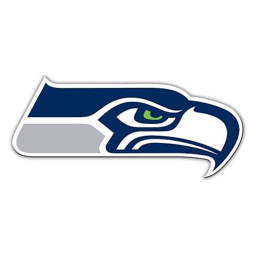 """Seattle Seahawks 12"""" vinyl logo magnet"""