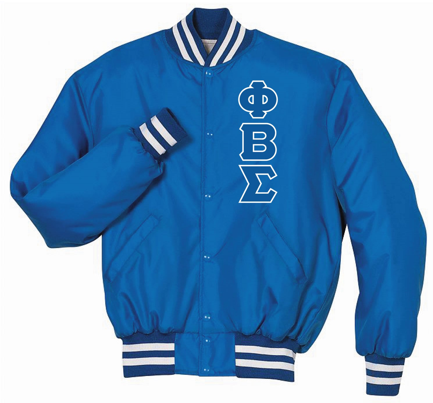 PBS Baseball Jacket Royal.White